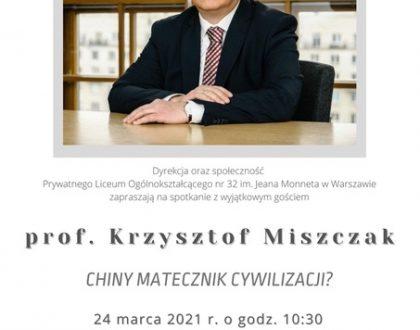 Spotkanie bardzo cool(turalne) z prof. Miszczakiem
