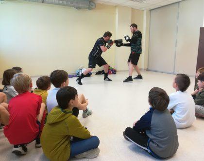 Spotkanie i trening z mistrzem boksu – panem Albertem Sosnowskim