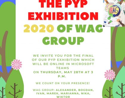 Invitation to PYP Exhibition